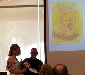 The Pennsylvania Center for the Book 2019's Lee Bennett Hopkins Poetry Award to Andrea Davis Pinkney for her work Martin Rising: Requiem for a King