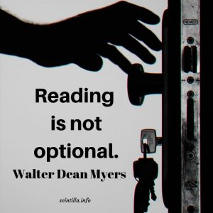Walter Dean Myers, Reading is not optional